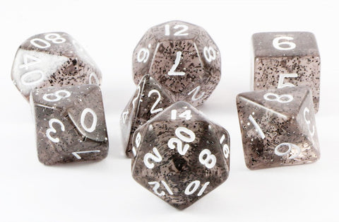 glitter ethereal dice black