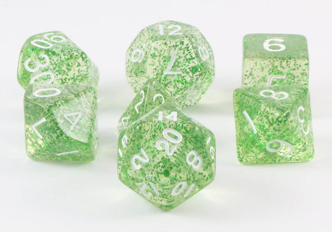 glitter ethereal dice green