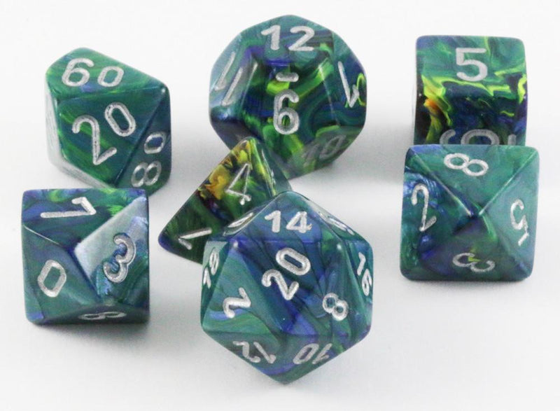 Festive RPG Dice Green