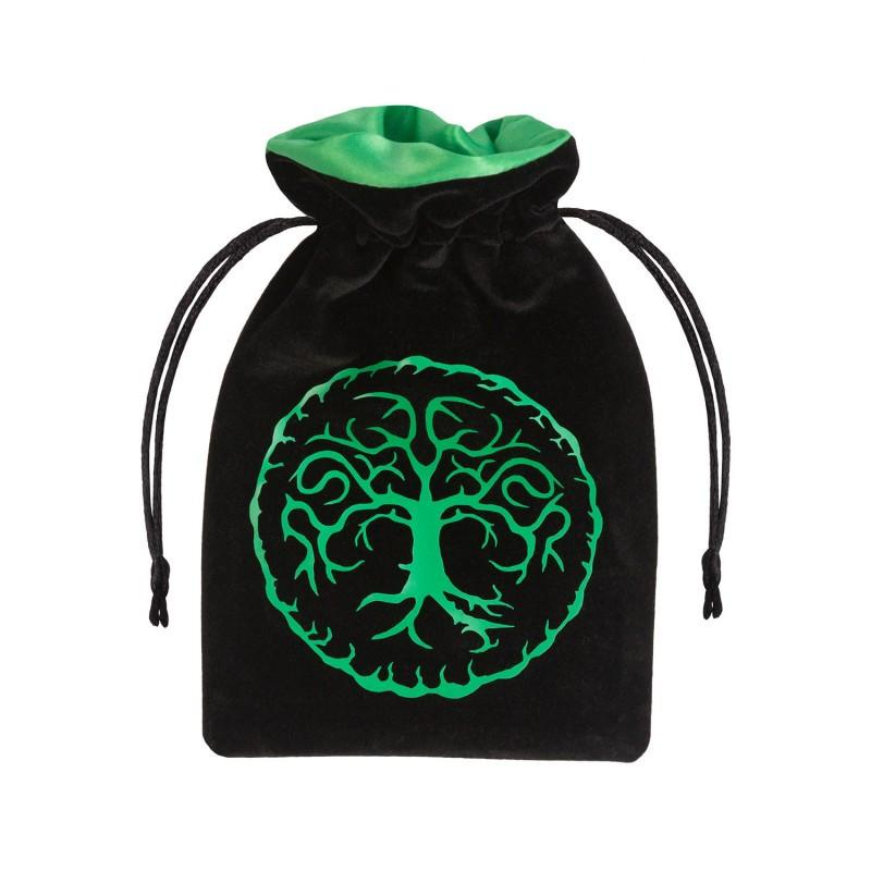 Forest Velour Dice Bag