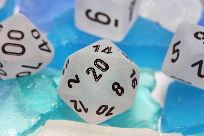 RPG Dice Frosted White