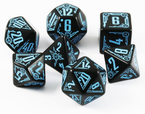 Galactic RPG Dice Black Blue