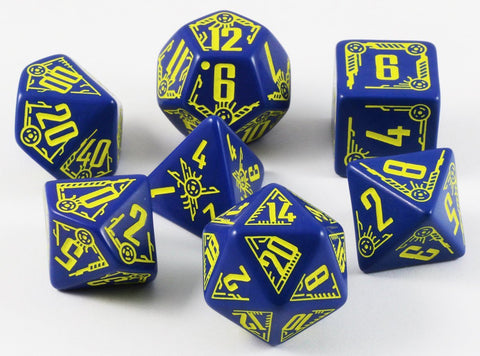 Galactic RPG Dice Navy Yellow