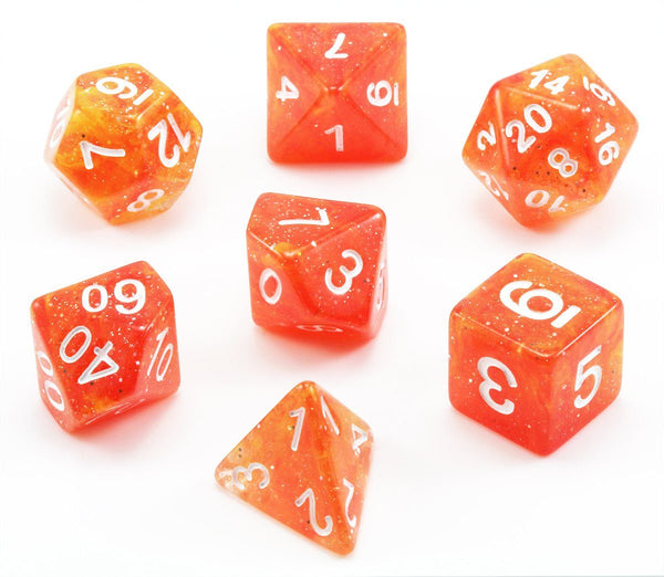Eclipse Dice Galaxy Orange Rpg Role Playing Game Dice Set