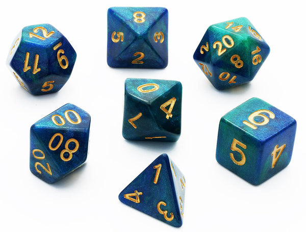 D&D Galaxy Dice Teal