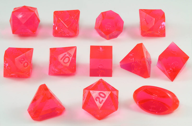 Gamescience dice laser red 12 piece set
