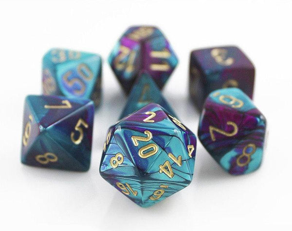 Gemini Dice Purple Teal