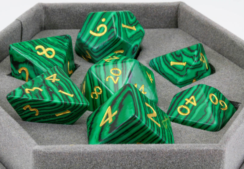 Malachite Gem DnD Dice