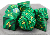 Malachite Gem DnD Dice 2