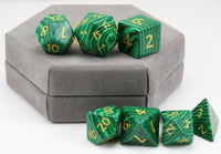 Malachite Gem DnD Dice 3