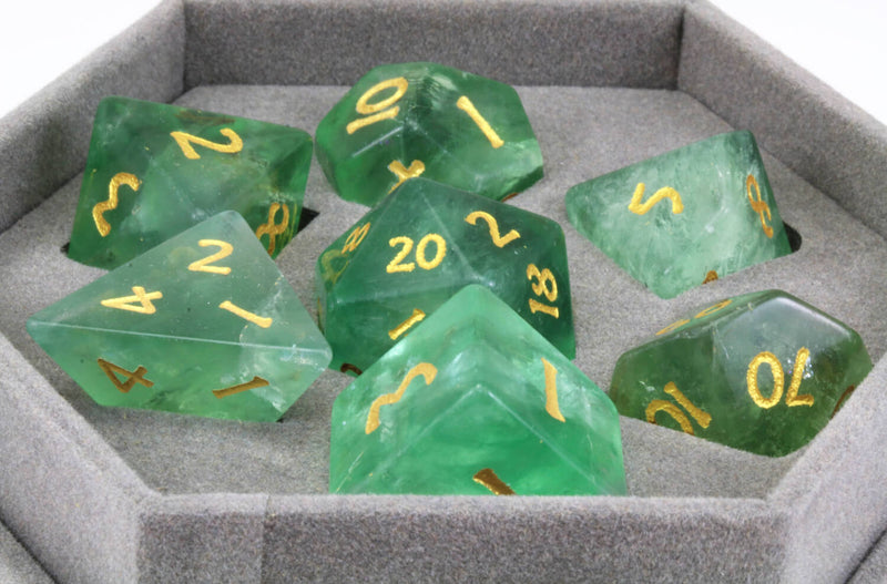 Green Fluorite Dice For DnD