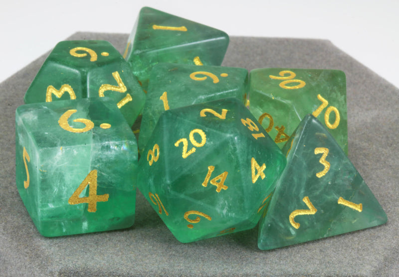 Green Fluorite Dice For DnD 2