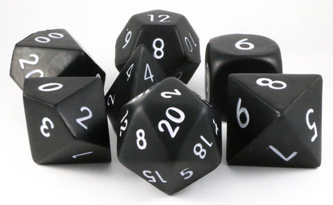 Giant Foam RPG Dice Black