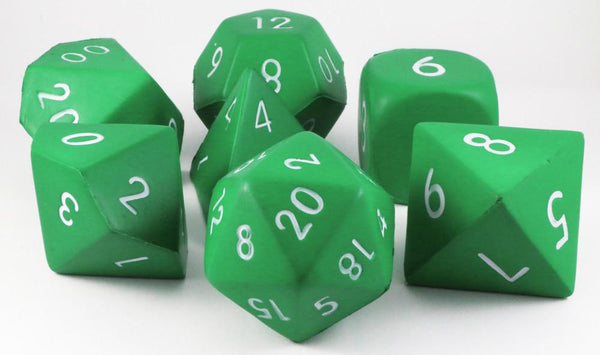 Foam RPG Dice Green