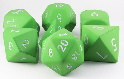 Foam RPG Dice Light Green
