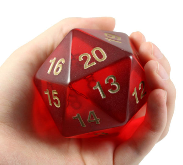 Giant D&D d20 Ruby Red