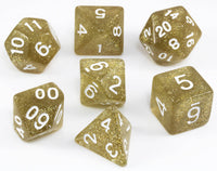 Dirty Gold Glitter Dice