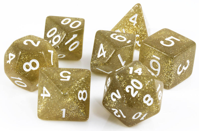 RPG Dice Dirty Gold