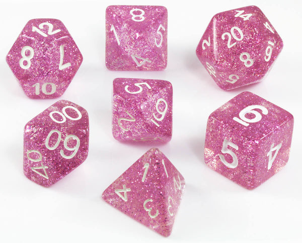 Glitter Purple D&D Dice