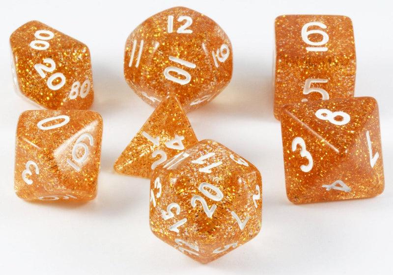 glitter yellow d&d dice