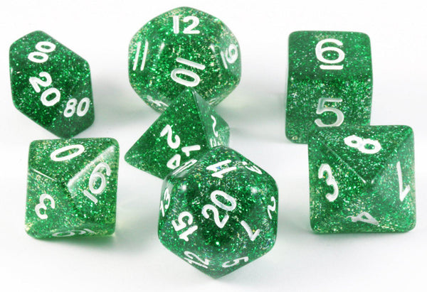 Glitter D&D Dice Green