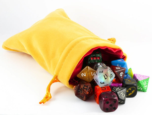 gold velvet dice bag