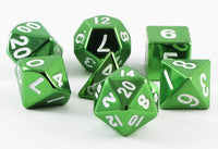 metal dice green