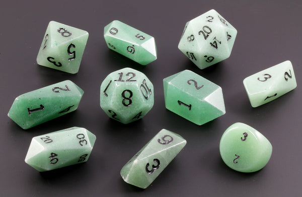 Green Adventurine Stone Dice