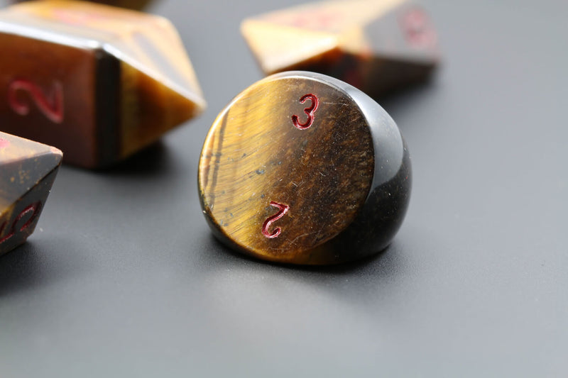 d3 RPG Dice Tiger Eye