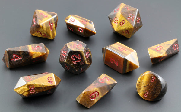 Hybrid Tiger Eye D&D Dice