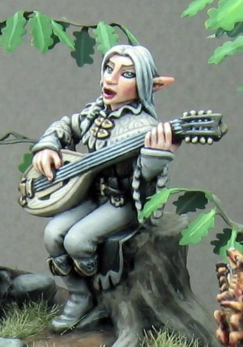 D&D Miniature Elf Bard