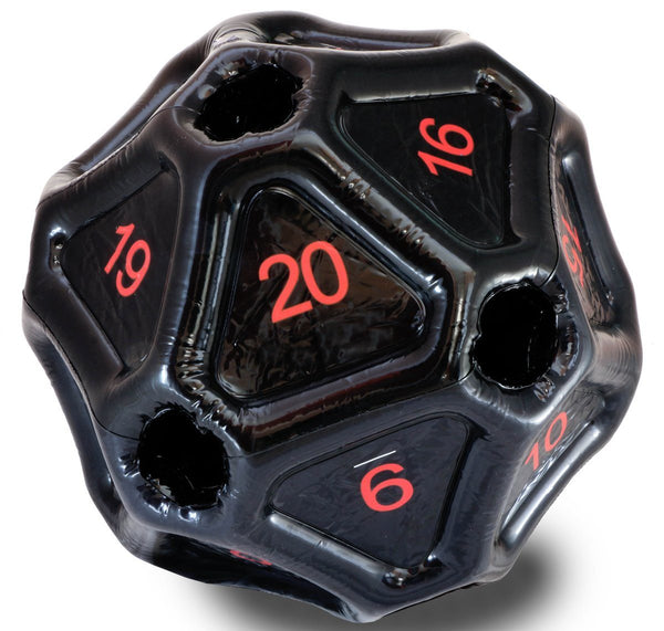 Inflatable d20 Dice Black