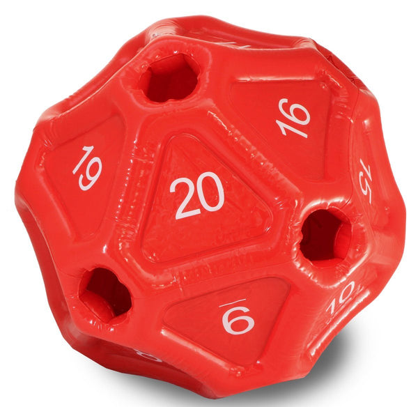 Inflatable d20 Dice Red