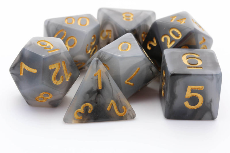 rpg dice black jade