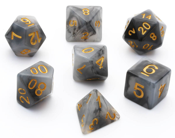dnd dice jade black