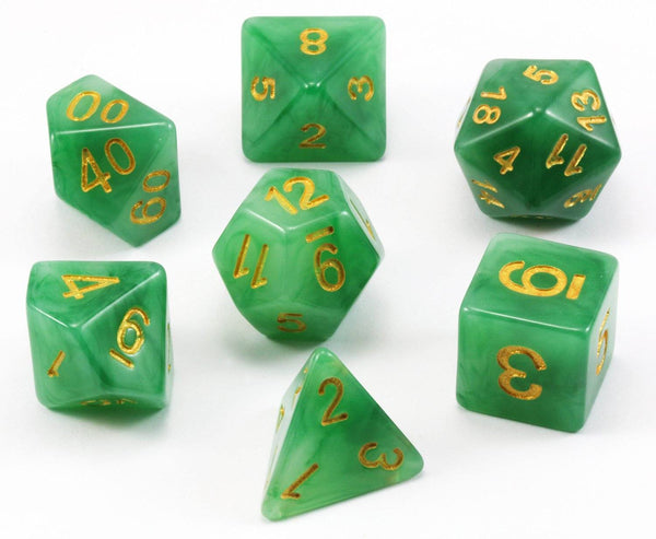 D&D Dice Jade Green