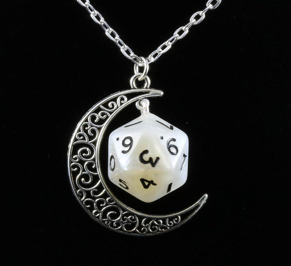 Gypsy Moon d20 necklace