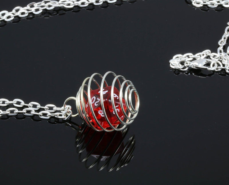Translucent red dice jewelry