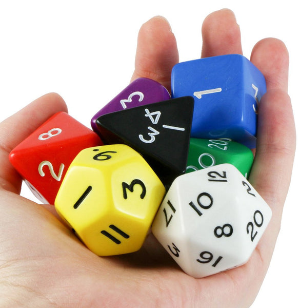Jumbo Dice (Assorted Colors) 28mm RPG Role Playing Game Dice