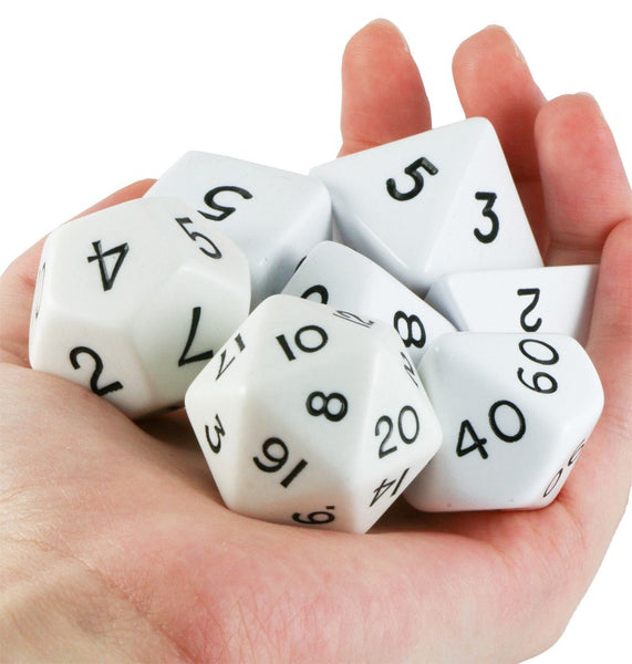 jumbo rpg dice white