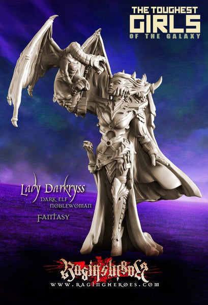 Raging Heroes Miniatures (Lady Darkryss, Dark Elf Heroine)