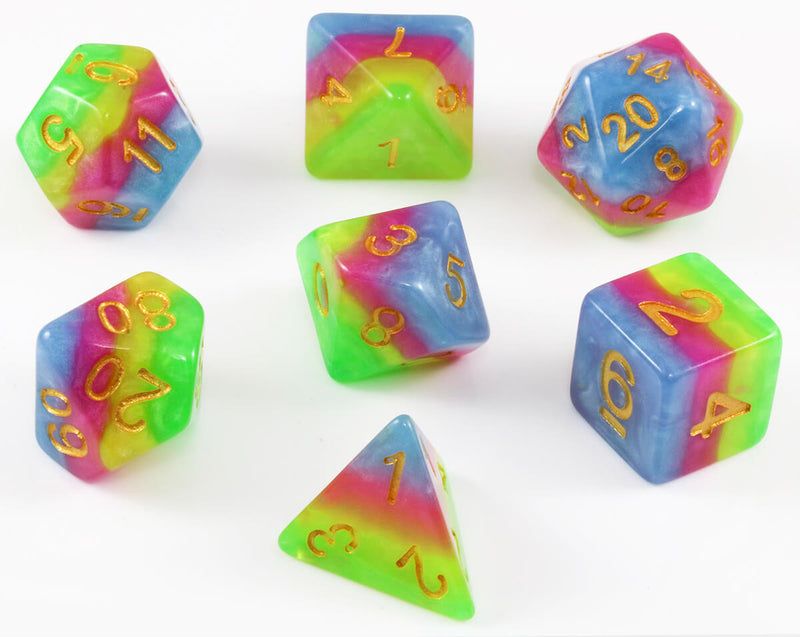 Layered tie dye dice