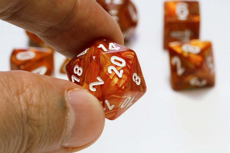 Lustrous Dice Bronze Closeup