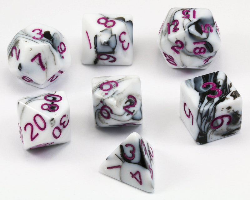 Marble D&D Dice Purple