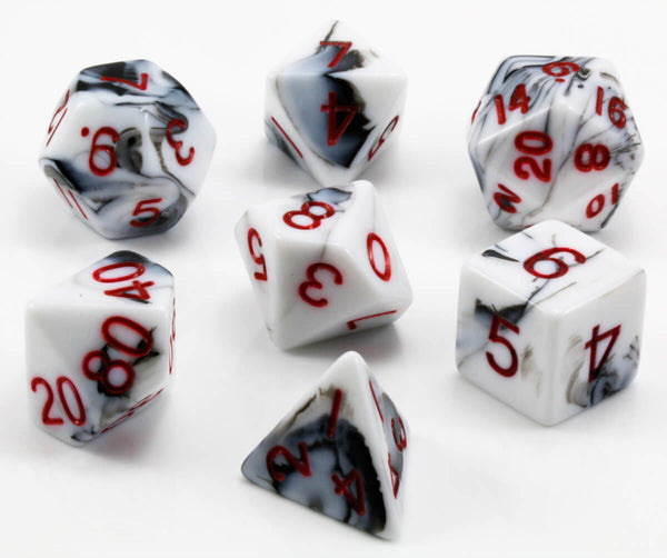 Marble dice red numbers