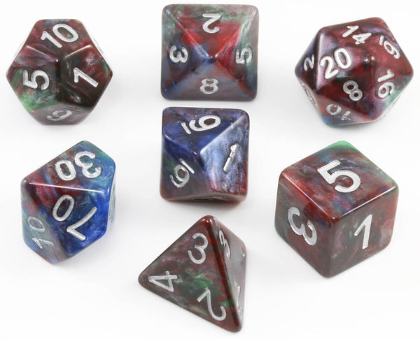 D&D Dice Blue shadowstone