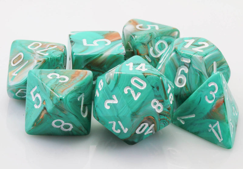 Marble Oxi-Copper Dice