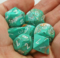 Beautiful Green D&D Dice