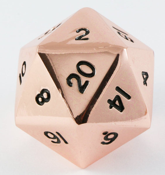 giant d20 metal copper