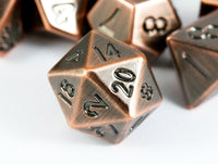 d20 Metal Antique Copper